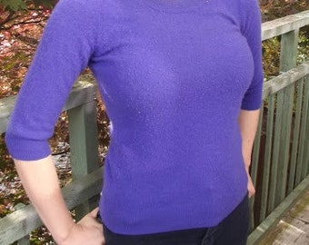 Electric Royal Blue Cashmere Sweater