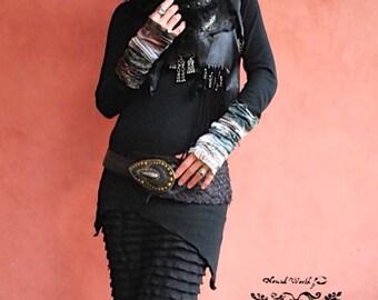 Bohemian, boho,Hippie, Gypsy clothes, Asymmetry long Sleeve,Nomad World