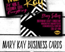 Mary Kay Business Card! Custom!! New logo!!!! Just wing it. Eyeliner. Life. Everything.