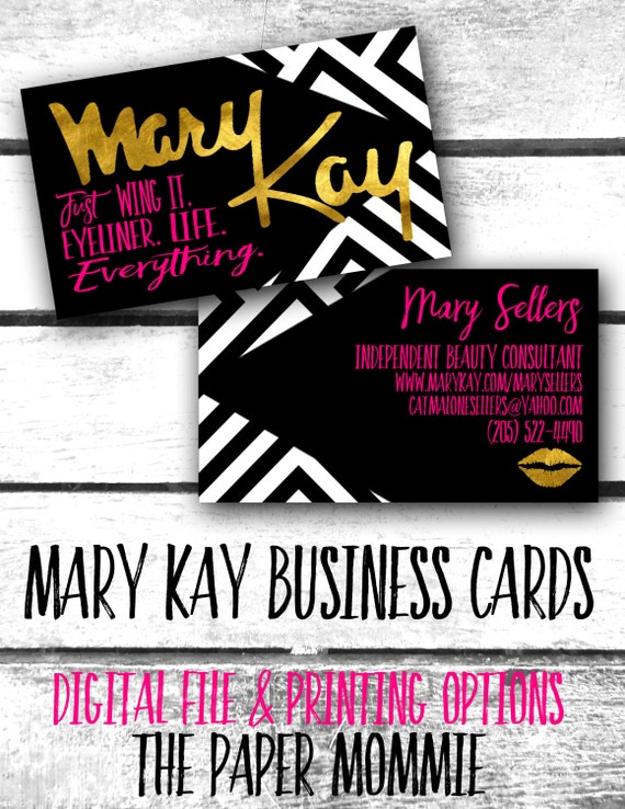 Mary Kay Business Card Custom New logo Just wing it