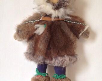 Vintage Eskimo Fur Doll