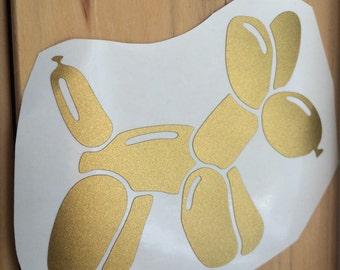 Balloon Animal Vinyl Decal, Vinyl Stickers, Dog Laptop Decal, Balloon Dog Car Sticker, Laptop Sticker, Car Decal, Sticker