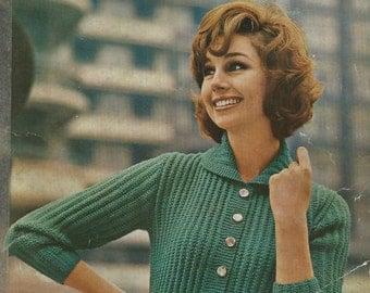 Instant Download - PDF-Lovely Ladies Cardi/Coat Knitting Pattern (K25)