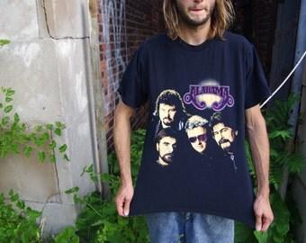 90's alabama band black t-shirt