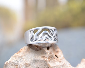 Sterling Silver Zebra Cut Out Ring