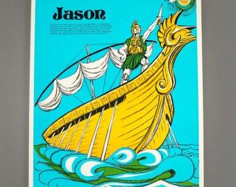 1972 Jason Poster Greek Mythology Laminate The Perfection Form Company