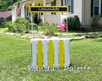 Lemonade Stand, Kissing Booth, Girl Scout Cookies, Photo Prop, Market Stand, Play Store, Birthday Gift, Christmas, Foldable & Personalized