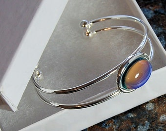 Color Changing Mood Silver Cuff Bracelet