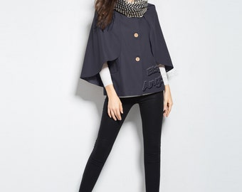 Anysize Retro woolen jacket plus size coat plus size dress plus size clothing spring autumn shawl winter coat jacket y276