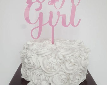 CLEARANCE It's a Girl Baby Shower Cake Topper - Light Pink, Baby Shower Cake Topper, It's a Girl Cake Topper, It's a Girl, Baby Shower Decor