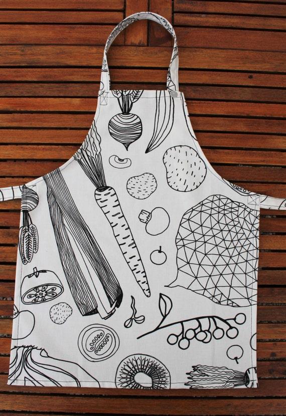 apron coloring page - kids apron boys apron girls apron black and white apron