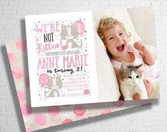 Kitten Birthday Invitation | Cat Birthday Invitation | Pet Birthday Invite | Kitty Birthday Invite | DIGITAL FILE ONLY