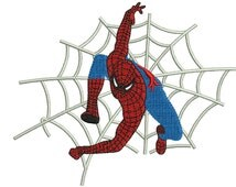 Spiderman embroidery pattern 5 sizes Machine embroidery design Instant Digital Download