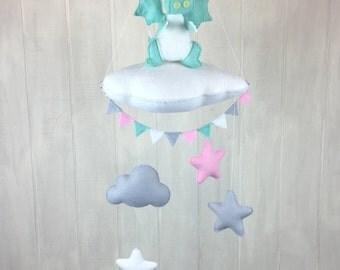 Baby mobile - dragon mobile - cloud mobile - star mobile - bunting - crib mobile - nursery mobile - childrens decor