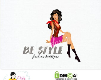Handrawn Premade Logo / Be Style Fashion Boutique Logo / Watercolor Logo Design – LD063