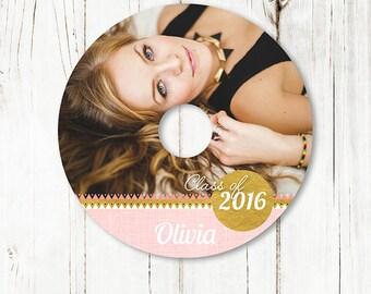 Senior Dvd Label Template -  Senior Announcement Template - Senior Graduation Template -  Photoshop template - D010 - instant download