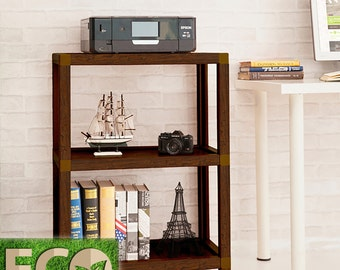 Tool Free Assembly Victoria 3 Tier Eco Friendly Storage Shelf and Bookcase by Way Basics