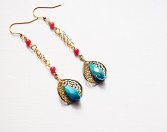 Long threaders earrings + filigree
