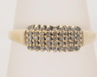 0.18 Carat T.W. Round Cut Diamond Band 10K Yellow Gold Ring