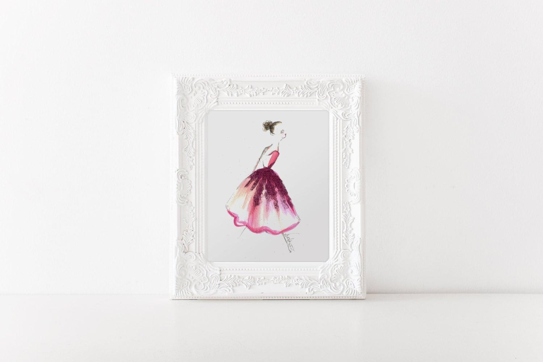 fahion illustration ballerina print ballet art ballerina