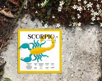 SCORPIO Zodiac Print / Poster