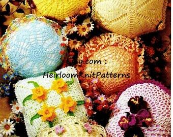 Doily Pillows 7 designs Crochet Pattern PDF Crochet Doily Pattern PDF, Floral Applique Doily Patterns, Instant download - 1015