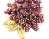 Hot Pink Floral Brooch/Pin Stanley Hagler Vintage