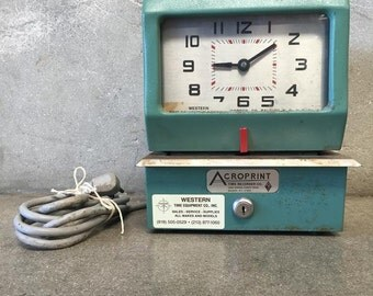Vintage Acroprint Employee Time Clock (QALPPP)