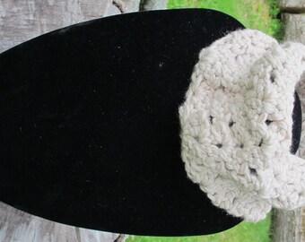 Crochet Chunky Cowl Scarf Neckwarmer In Beige Ready to Ship