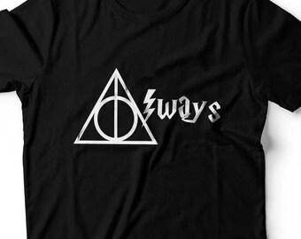 Harry Potter Always Deathly Hallows T Shirt