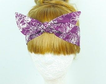 Floral headband, Hair Wrap, Roses headband, Hair Accessories, Womens headband, Twist turban, knot headband