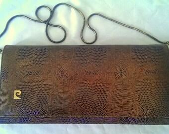 Vintage Pierre Cardin lizard skin clutch bag