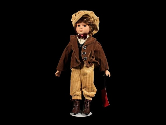 House of Lloyd, Tiny Tim, Collectible Doll, Stand Included, Original Tag, 16 Inch Doll