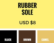 Add Vibram Rubber Sole - Rubber Sole Add On - Rubber Sole Upgrade - Rubber sole for Walkers - Toddler shoe - Walking toddlers