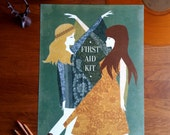 First Aid Kit Folk Illustration Band Poster A3