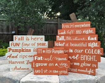 Fall Decor Wood Pumpkin - SET OF 3 - Pumpkin Stack - Thanksgiving Decor - Halloween Decor - Pumpkin Decor - Rustic Fall Sign - Wood Sign