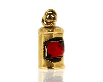 Vintage Gold Charm - 9ct Gold Lantern Charm - Vintage Gold Charm