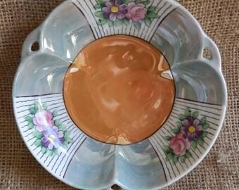 Vintage 1930's Noritake M Lustre Small Floral Bowl
