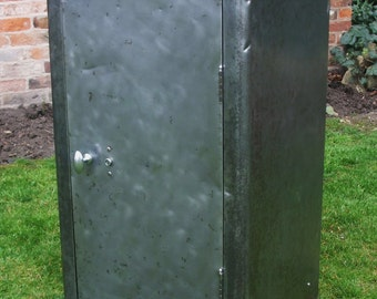 1950's Mid Century Polished Steel Industrial Cabinet / Cupboard