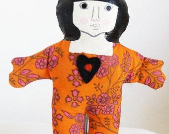 Cloth Bamsedol Doll Vintage 1970s