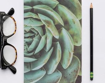 Blank Journal, Writer Notebook, Sketch Book, California Images, Green Succulent