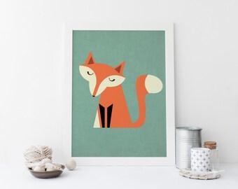 Fox Wall Art fox nursery wall art | etsy