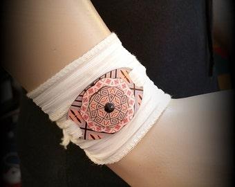 Egyptian Bracelet - Egyptian Revival - 1920s - Pattern - Geometric Bracelet - Wrap Bracelet - Yoga Bracelet - Vintage Illustration - Costume