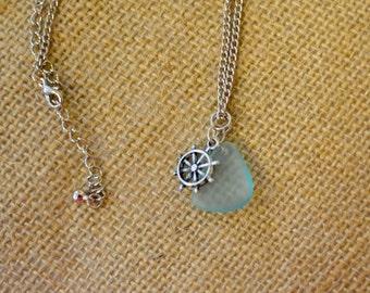 Beach Jewelry, Nautical Jewelry, Nautical Necklace, Sea Glass Jewelry, Sea Glass Necklace, Summer Style