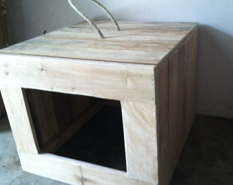 Rustic Cat Litter Box Cover, Primitive Cat Litter Box Cover, Litter Box Cover, Reclaimed Wooden Litter Box Cover
