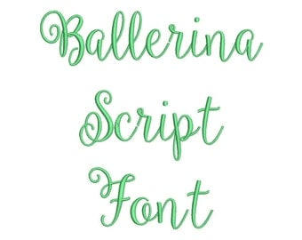 Ballerina Script Font Embroidery Font Machine Embroidery Alphabet Monogram Font Designs 3 Size BX Embroidery Fonts - INSTANT DOWNLOAD