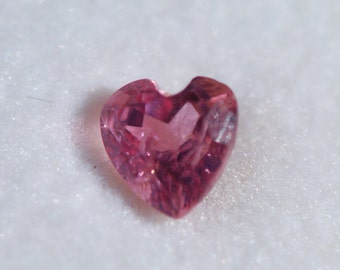 Rubellite Tourmaline, Pink, Faceted Heart, 5 x 5mm, 0.4 ct, Brazil, FHA