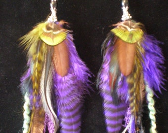 Pretty In Purple Feather Earrings