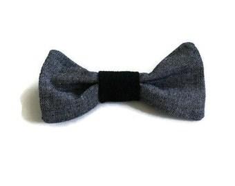 Chambray Pet Bow Tie (Multipurpose mini bow)