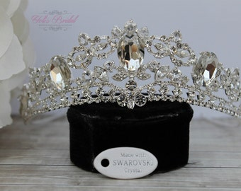 ONLY ONE LEFT! Swarovski Tiara, Quinceanera Tiara, Crystal Tiara ,Wedding Tiara ,Crown , Wedding Headpiece, Bridal Tiara, Crystal Headpiece